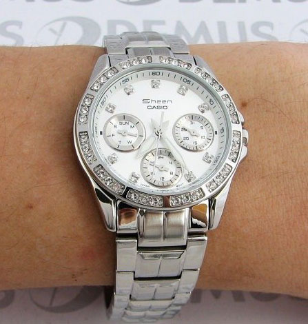 0ab61b2f46a5 Купить женские японские наручные часы Casio Sheen SHN-3013D-7A по ...