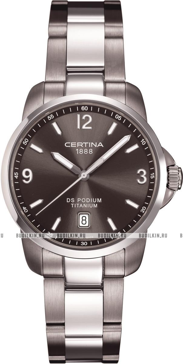 Мужские швейцарские наручные часы Certina DS Podium C001.410.11.057.00 ... 4f0ec94536a