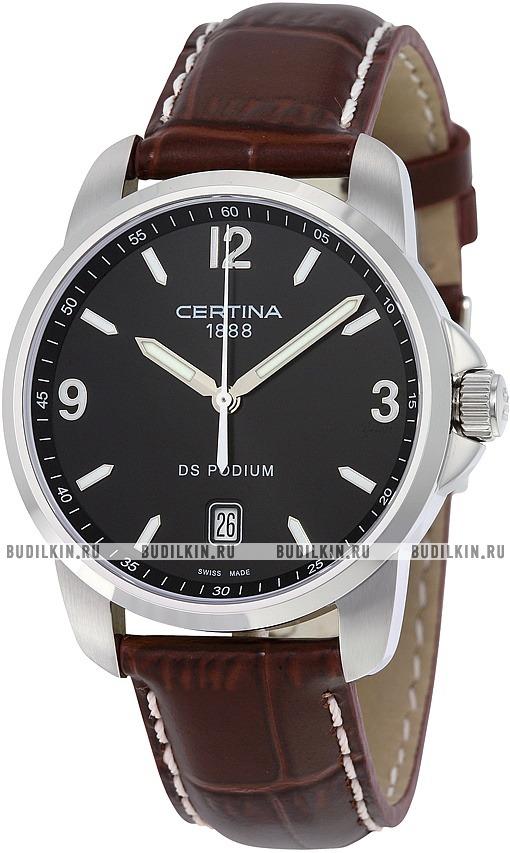 Фото швейцарских часов Мужские швейцарские наручные часы Certina DS Podium  3 Hands Black C001.410.16 ... 8ca000a1c59
