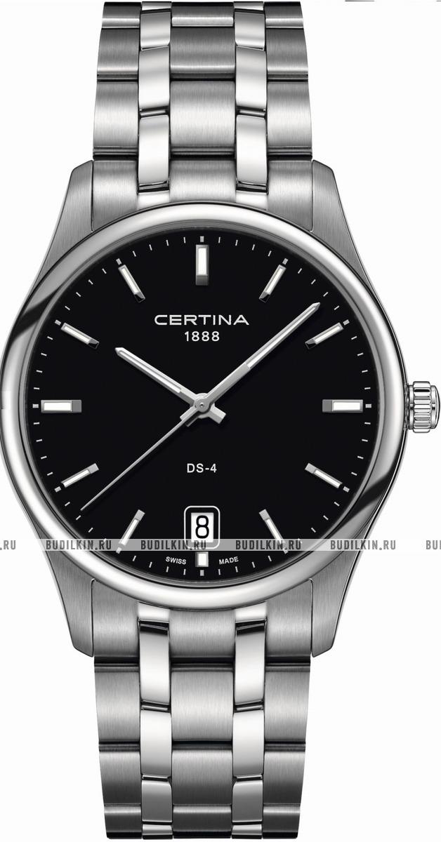Мужские швейцарские наручные часы Certina DS 4 Big Size Black  C022.610.11.051.00 ... 6bd791cf3cb