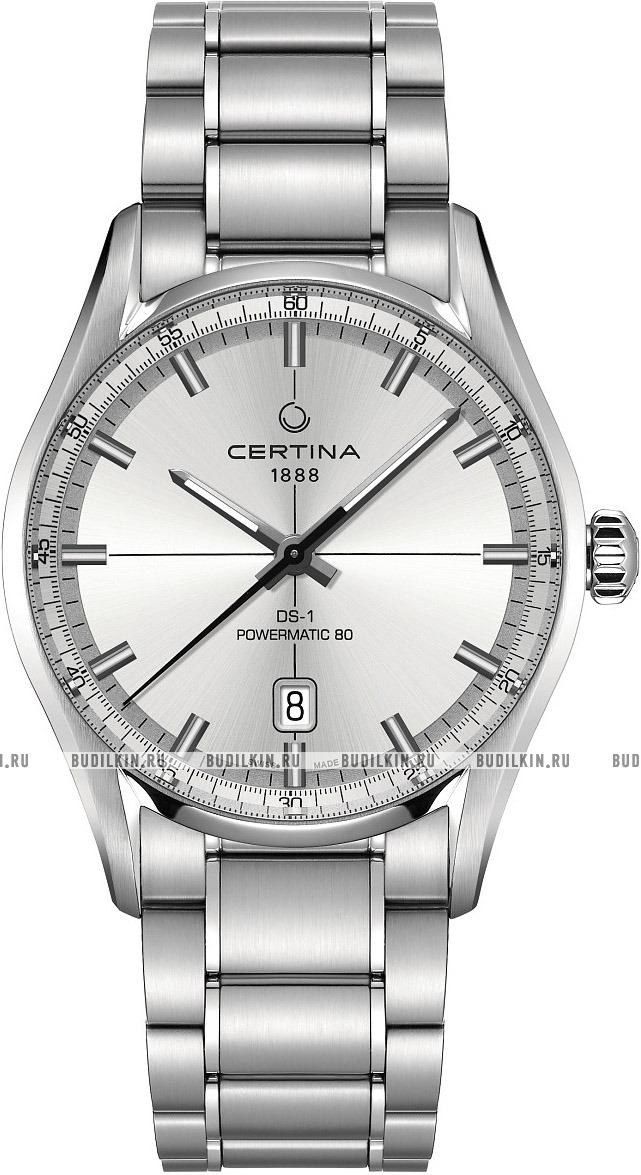 Мужские швейцарские наручные часы Certina DS-1 Powermatic 80  C029.407.11.031.00 ... e232a6c83eb