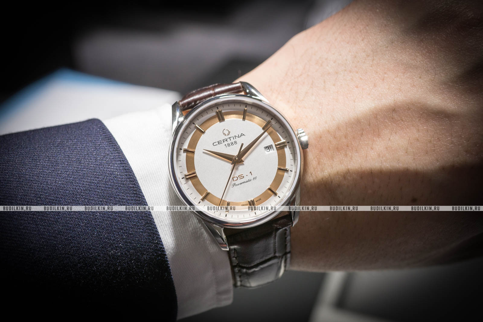 ... Мужские швейцарские наручные часы Certina DS-1 Powermatic 80  C029.807.16.031.60 ed3895d7cc4