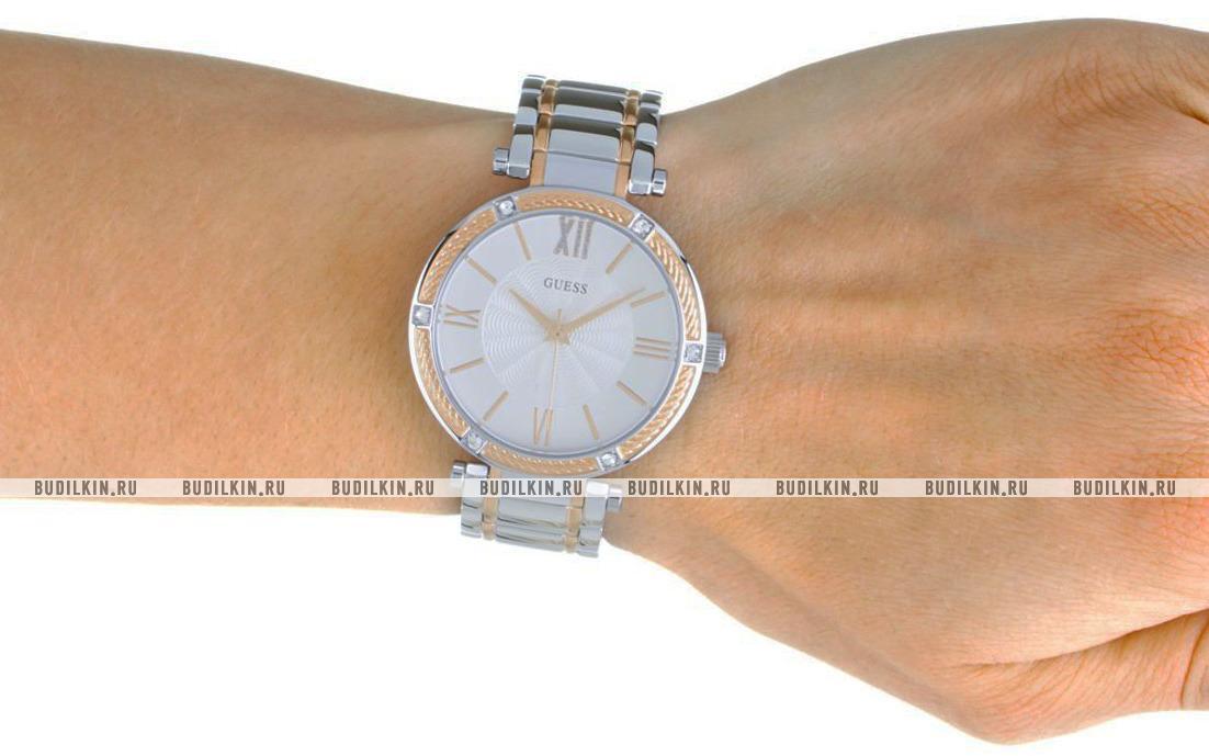 Купить женские швейцарские наручные часы Guess Park Ave W0636L1 по ... b5b492a5d7326