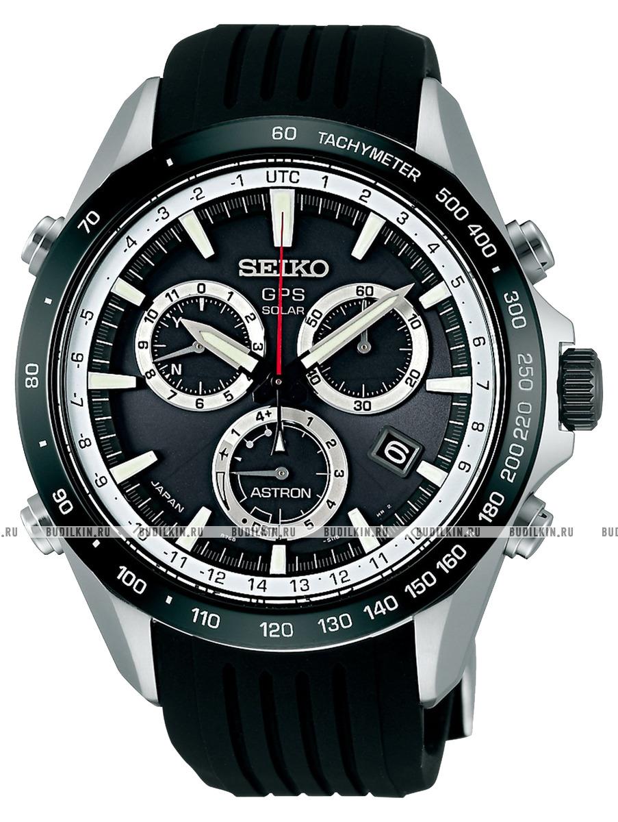 Мужские японские наручные часы Seiko GPS Solar Chronograph SSE015J1 ... d2e53fb79cb