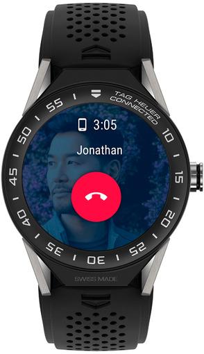 Фото швейцарских часов Мужские швейцарские наручные часы TAG Heuer Connected Modular 45 SBF8A8001.11FT6076