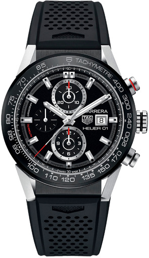 Фото швейцарских часов Мужские швейцарские наручные часы TAG Heuer Carrera CAR201Z.FT6046