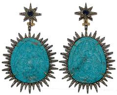 Серьги Vintage Gems OPS-12589